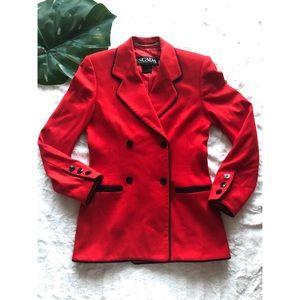 Vintage Escada 90's Virgin Wool Blazer Jacket